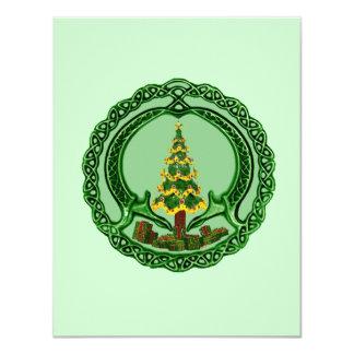 Christmas Claddagh 4.25x5.5 Paper Invitation Card