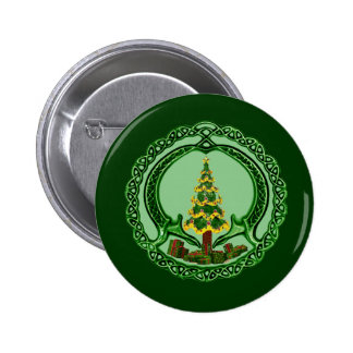 Christmas Claddagh Buttons