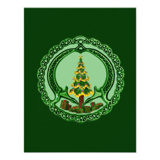 Christmas Claddagh Custom Invitations