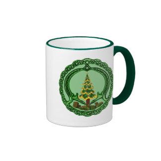 Christmas Claddagh Ringer Coffee Mug