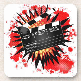 Christmas Clapperboard Coaster