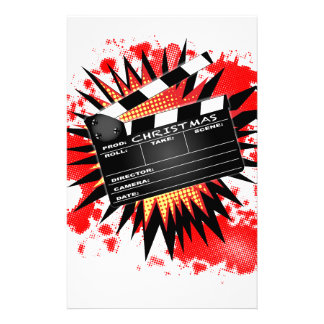 Christmas Clapperboard Stationery
