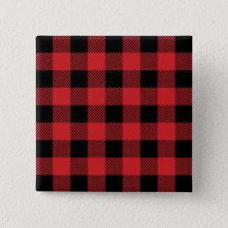 Christmas classic Buffalo check plaid pattern Button