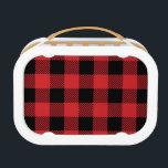 "Christmas classic Buffalo check plaid pattern Lunch Box<br><div class=""desc"">Christmas classic Buffalo check plaid pattern in red and black</div>"