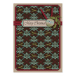Christmas Classic Gift Tag Large Business Card
