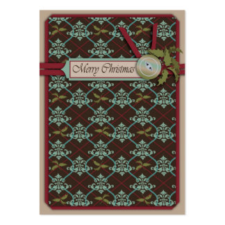 Christmas Classic Gift Tag Large Business Cards (Pack Of 100)