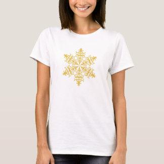 Christmas Classic Gold Winter Snowflake T-Shirt