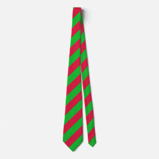Christmas Classic Green and Red Stripes Tie