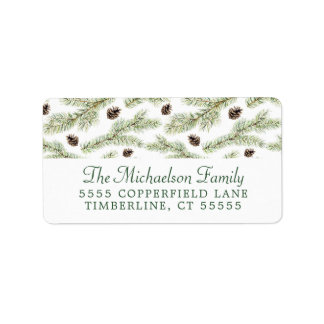 Christmas | Classic Pinecone Pattern Label