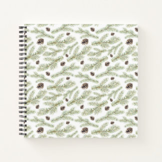 Christmas | Classic Pinecone Pattern Notebook