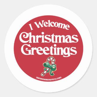 Christmas Classic Round Sticker