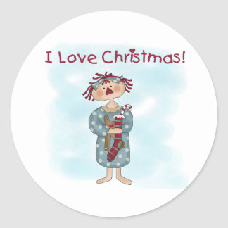 Christmas Classic Round Sticker