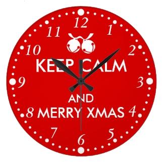 Christmas Clock Keep Calm Jingle Bells Customize