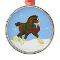 Christmas Clydesdale Horse Colt Ornament