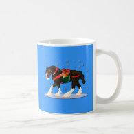 Christmas Clydesdale Mug