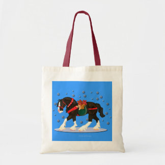 Christmas Clydesdale Tote Bag