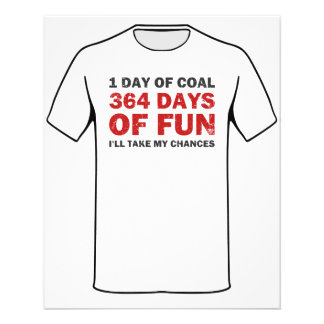 Christmas Coal VS 364 Days of Fun Flyer
