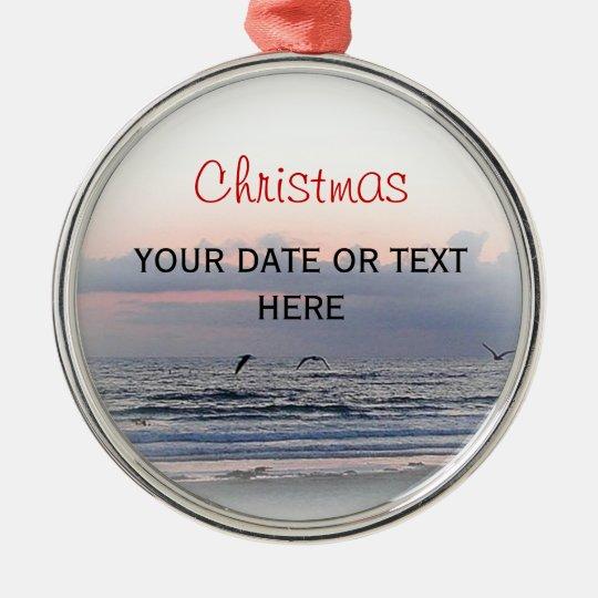 Christmas coast metal ornament