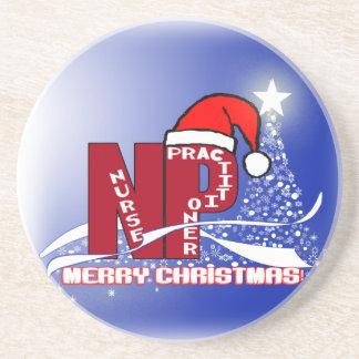 CHRISTMAS COASTERS  SANTA NP  NURSE PRACTITIONER