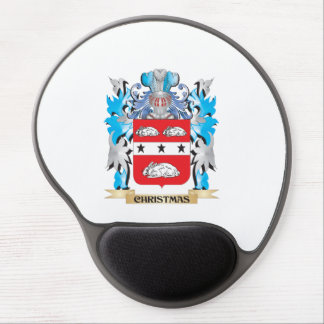 Christmas Coat of Arms - Family Crest Gel Mouse Pad