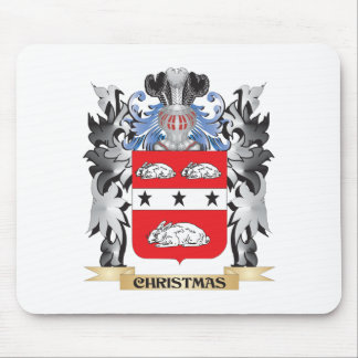 Christmas Coat of Arms - Family Crest Mouse Pad