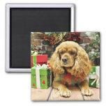 Christmas - Cockalier - Suzy 2 Inch Square Magnet
