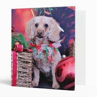 Christmas - Cockapoo - Annie Vinyl Binders