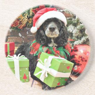 Christmas - Cockapoo - Baxter Drink Coaster