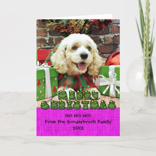 Christmas - Cockapoo - Clancy Holiday Card