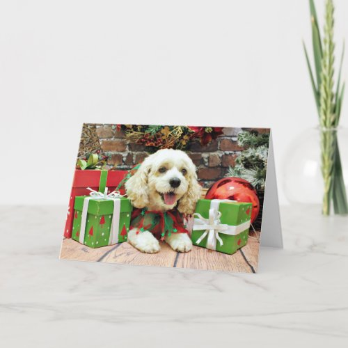 Christmas - Cockapoo - Clancy Holiday Card