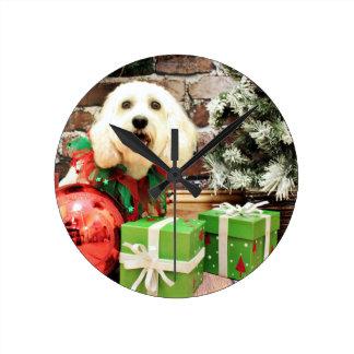 Christmas - Cockapoo - Mia Round Wallclock