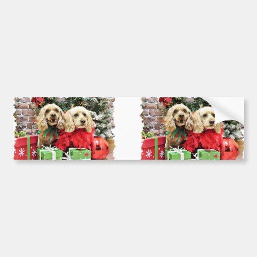 Christmas - Cockapoo - Sugar and Spice Bumper Sticker
