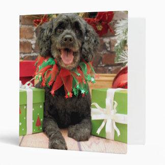 Christmas - Cockapoo - Trumbo Vinyl Binder