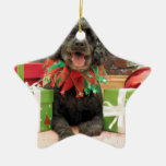 Christmas - Cockapoo - Trumbo Double-Sided Star Ceramic Christmas Ornament