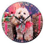 Christmas - Cockapoo - Wriggly Clocks