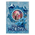 Christmas - Cockapoo - Wriggly Greeting Card