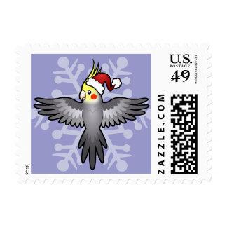 Christmas Cockatiel Stamp