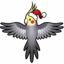 Christmas Cockatiel Statuette