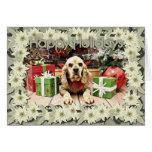 Christmas - Cocker Spaniel - Calvin Greeting Cards