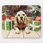 Christmas - Cocker Spaniel - Calvin Mousepad