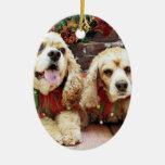 Christmas - Cocker Spaniel - Freckles and Mollie Christmas Tree Ornaments