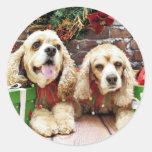 Christmas - Cocker Spaniel - Freckles and Mollie Sticker