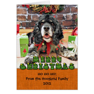 Christmas - Cocker Spaniel - Harley Stationery Note Card