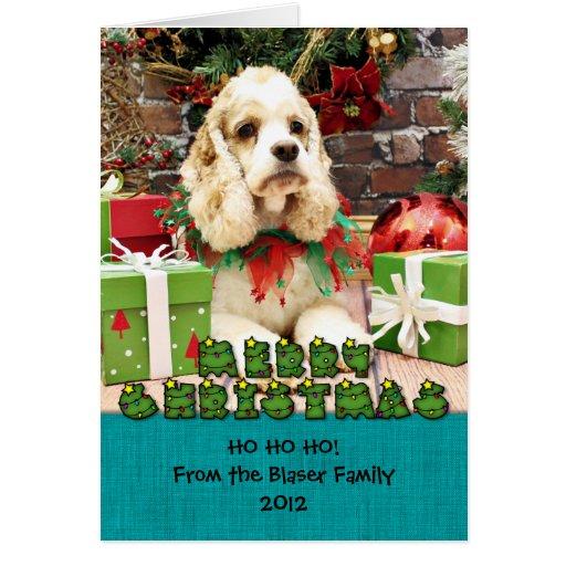 Christmas - Cocker Spaniel - Jake Greeting Card