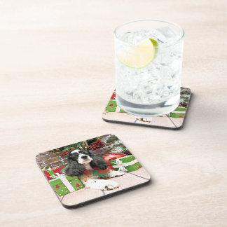 Christmas - Cocker Spaniel - Laci Drink Coaster