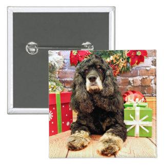 Christmas - Cocker Spaniel - Marley Pinback Button
