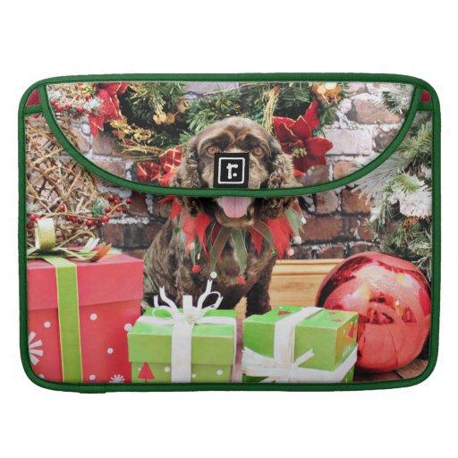 Christmas - Cocker Spaniel - Murphy MacBook Pro Sleeves