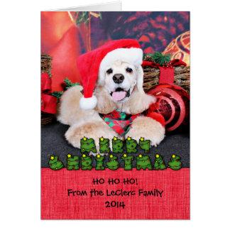 Christmas - Cocker Spaniel - Tobey Greeting Card