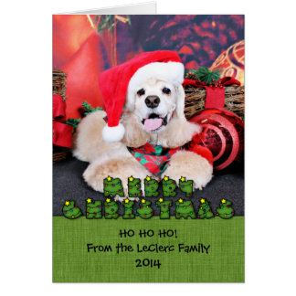 Christmas - Cocker Spaniel - Tobey Greeting Cards