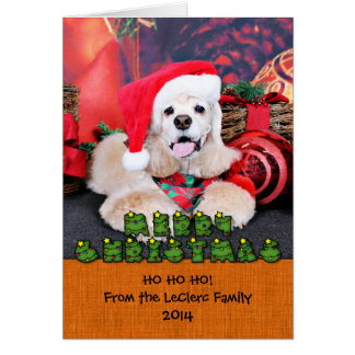 Christmas - Cocker Spaniel - Tobey Card
